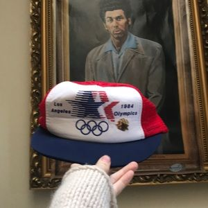 Vintage Accessories - Snap Back 1984 Olympics Hat & Pin snapback